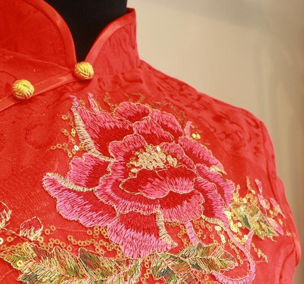Red Embroidered Image